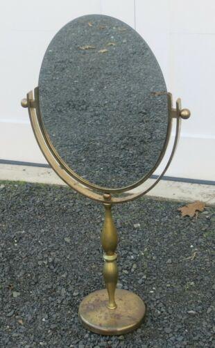 Charles Hollis Jones Style Large Brass Table Mirror