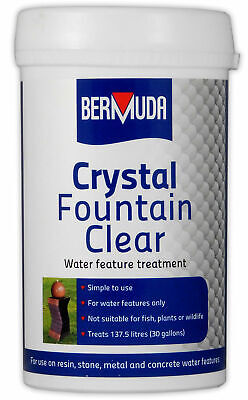 Bermuda Crystal Fountain Clear Water Feature Treatment Water Feature Cleaner Fountain Water Cleaner
