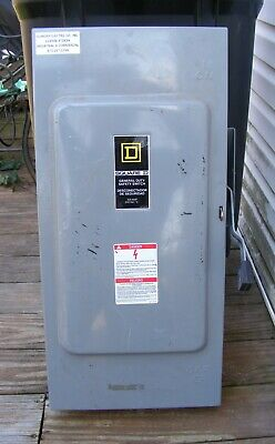 Square D General Duty Safety Switch No.d324n 200 Amp 240 Vac Series E4 Used