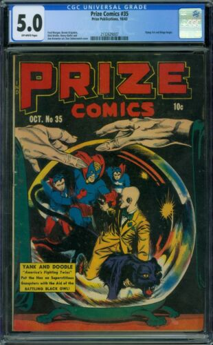 Prize Comics 35 CGC 5.0 - OW Pages