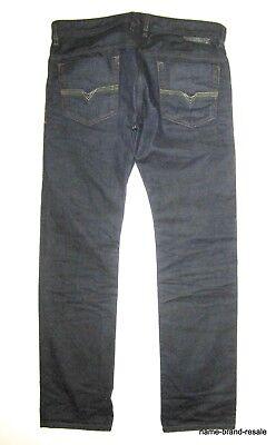 DIESEL Jeans SAFADO Mens 34 x 32 Dark Indigo Denim Slim Straight Distressed for sale  Shipping to India