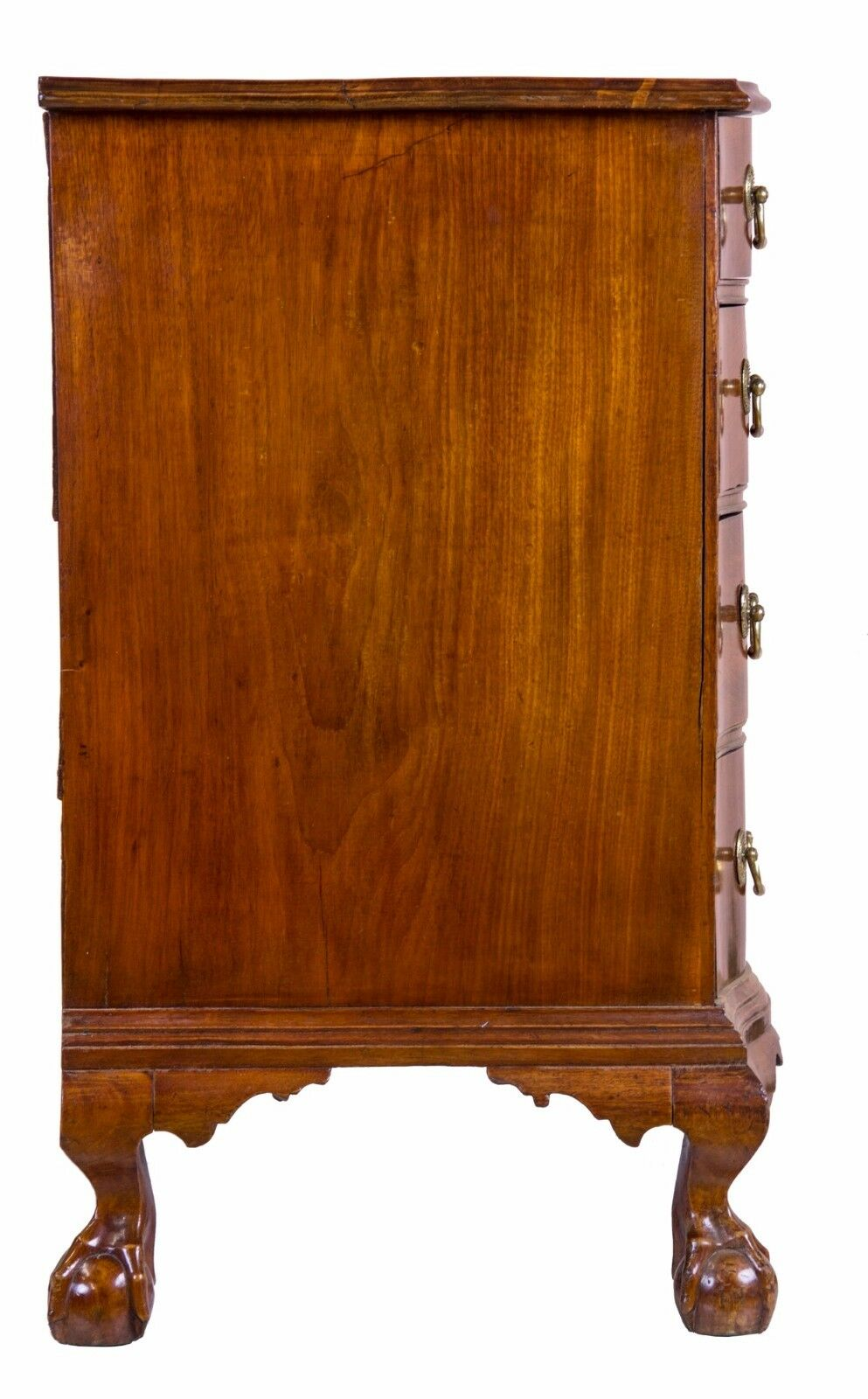 SWCChippendale Mahogany Oxbow Chest of Drawers