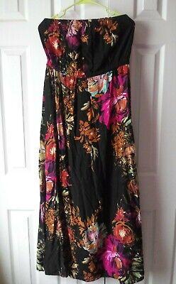 xhilaration strapless floral maxi dress size XL