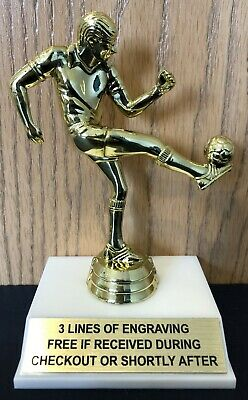 - Male Soccer Trophy - Free Engraving - Assembly Required