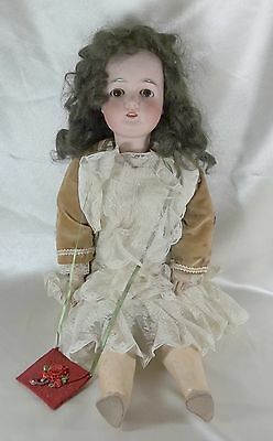 """Antique Armand Marseille Queen Louise Doll Bisque & Composition 25"""" Ball Jointed"""