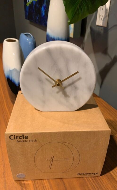 BoConcept Real Marble Desk Clock - Brand New in the Box