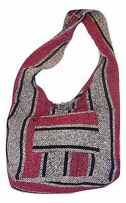 Woven Hobo Handbag - #883 Hobo Woven Tote Baja Purse Mexico Purse Hippie Bag Southwest Handbag Cotton