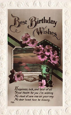 R208198 Best Birthday Wishes. Happiness luck and best of all good health for