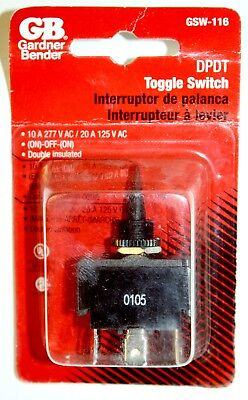 (Gardner Bender GSW-116 DPDT Toggle Switch On-Off-On Double Pole Double Throw)