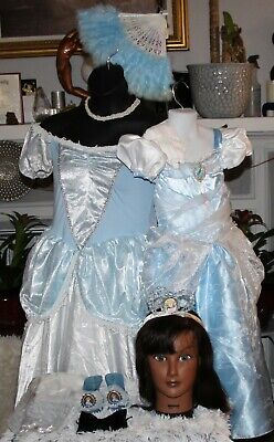 DISNEY MOTHER/DAUGHTER CINDERELLA BALLGOWN,TIARA,GLOVES{C:5-6 A: - Cinderella Standard Kostüm