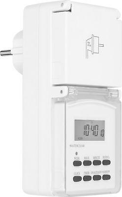 8x Zeitschaltuhr mechanisch Outdoor IP44 16A für Außen und Innen Timer Analog