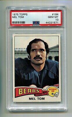 1975 TOPPS MEL TOM PSA 10 GEM MINT HIGHEST GRADED POP 1 OF 13 CHICAGO BEARS Chicago Bears Stone