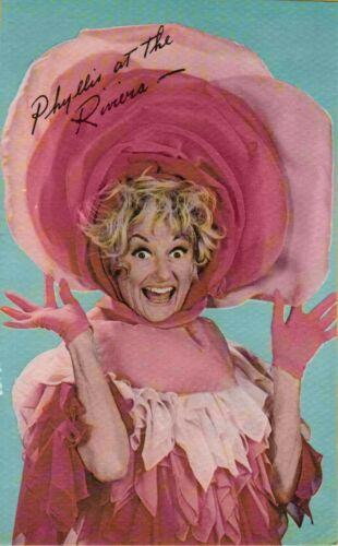 Vintage Postcard Phyllis Diller Riviera Hotel Casino Nevada Celebrity Americana