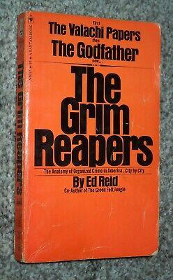 THE GRIM REAPERS - Ed Reid, 1970 sc, Bantam - Organized Crime