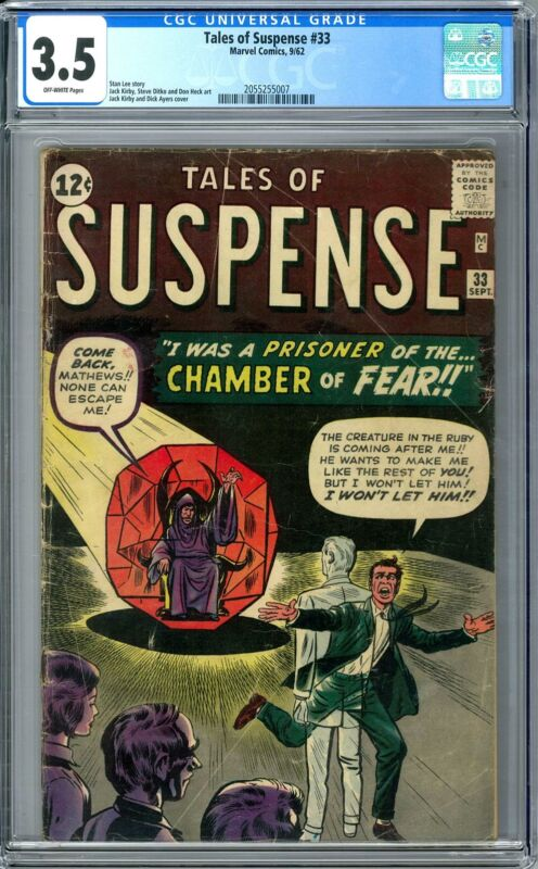 Tales of Suspense #33 CGC 3.5 (OW) Stan Lee Story