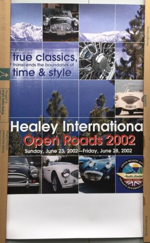 Open Roads Poster, Healey International 50th Anniversary Meet, 2002, Lake Tahoe