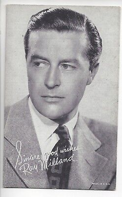 Ray Milland Vintage Exibited Card Movie Snap Shots B W-4 On A Sheet - $23.95