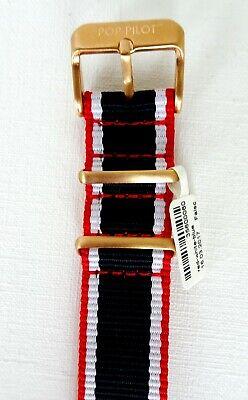 POP-PILOT® Armband, Rot/Weiß/Blau, 20 mm, 24,5 cm lang, NP 24,90 Euro, *NEU* ()