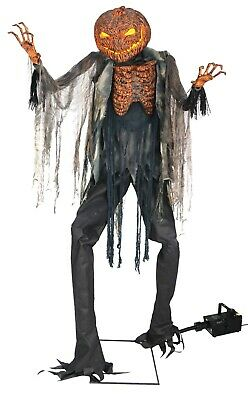 Halloween Lifesize Animated SCORCHED SCARECROW WITH FOG 7' Prop Haunted House ()