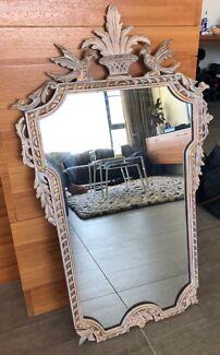 Vintage Mirror with Gold Detail