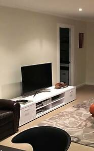 White TV Media Unit in As New Condition South Yarra Stonnington Area Preview
