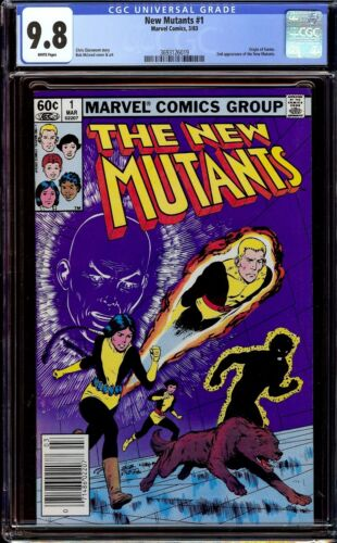 New Mutants #1...CGC 9.8 NM/M White pages...Newsstand Copy...1983
