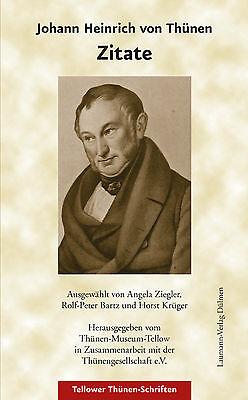 Johann Heinrich von Thünen Zitate