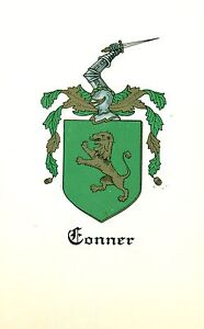 Great-Coat-of-Arms-Conner-Family-Crest-genealogy-would-look-great-framed