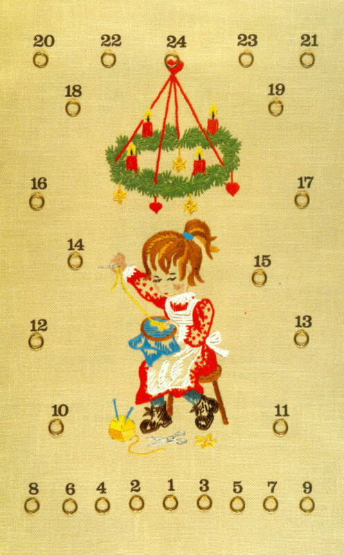 NEW! Lindhorst Needlepoint Stitchery Kit Canvas Christmas Advent Calendar German