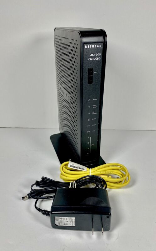 NETGEAR C6300BD AC1900 DOCSIS 3.0 Cable Modem Dual Band Wireless WiFi Router