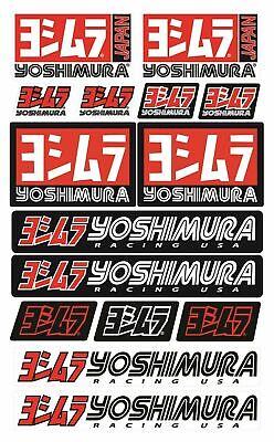 Yoshimura Sponsor Set di adesivi per adesivi moto Honda Suzuki Laminati /53