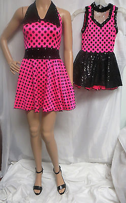 VTG 80'S ADULT & CHILD MINNIE MOUSE STYLE SEQUIN DANCEWEAR COSTUME LEOTARDS - Minnie Mouse Outfit For Women