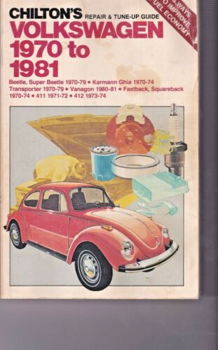 Chiltons Repair & Tune Up Manual Guide Volkswagen 1970 to 1981