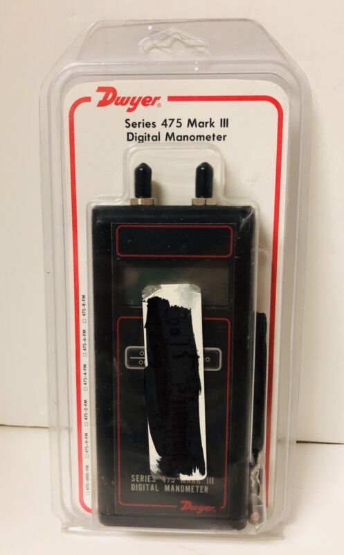 Dwyer 475-3-FM Mark III Handheld Digital Manometer 0-200.0 IN W.C. 30 PSI Max