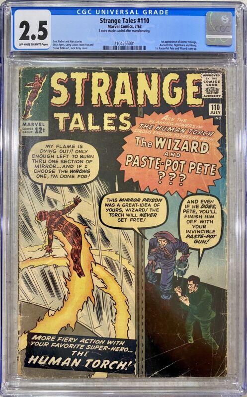 STRANGE TALES #110 CGC 2.5 - 1ST APPEARANCE DOCTOR STRANGE 1963 ANCIENT ONE KEY