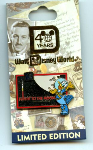 WDW 40th Anniversary of Walt Disney World Flight to the Moon Donald Duck LE Pin