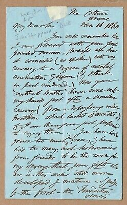 John Sheppard, English religious writer. Long 1860 seven page autograph letter