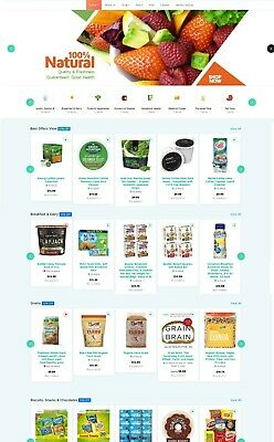 Grocery Food Store Ecommerce Mulisellers Dropship Affiliate Website