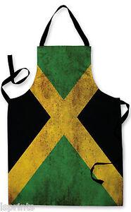 JAMAICA-Grunge-Bandera-DELANTAL-COCINA-BARBACOA-DE-COCINA-PINTURA-Dia-del-Padre