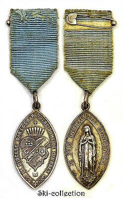 Medal, the Diocese D'Algiers in Notre Dame Lady Lourdes. Algeria French