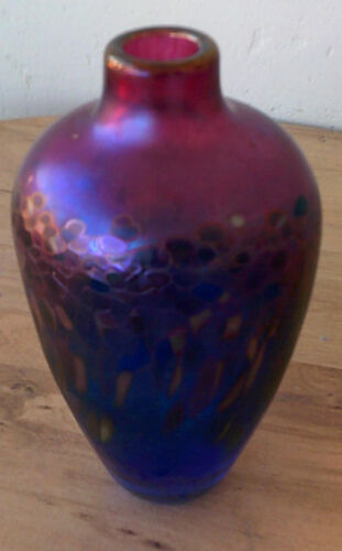 ROBERT HELD  IRRIDESCENT ART GLASS VASE