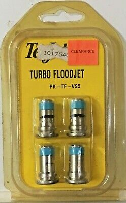 Teejet Turbo Floodjet Tf-vs5 Wide Angle Flat Set Of 4