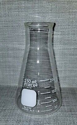 250 Ml Corning Pyrex Erlenmeyer Flask Wide Mouth Beaker No. 5100