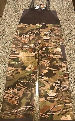 NWT UNDER ARMOUR BOY STEALTH CAMO FLEECE HUNTING OVERALL PANTS BIB L & XL $100 Stealth Camo Pant