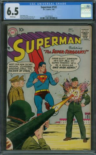 Superman 122 CGC 6.5 - Cream pages