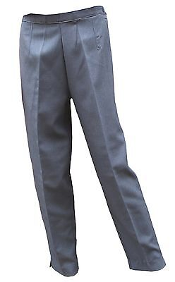 """Cathedral Trousers Ladies Showerproof Coated Grey Bowling Size 12-28 Il27""""29""""31"""""""