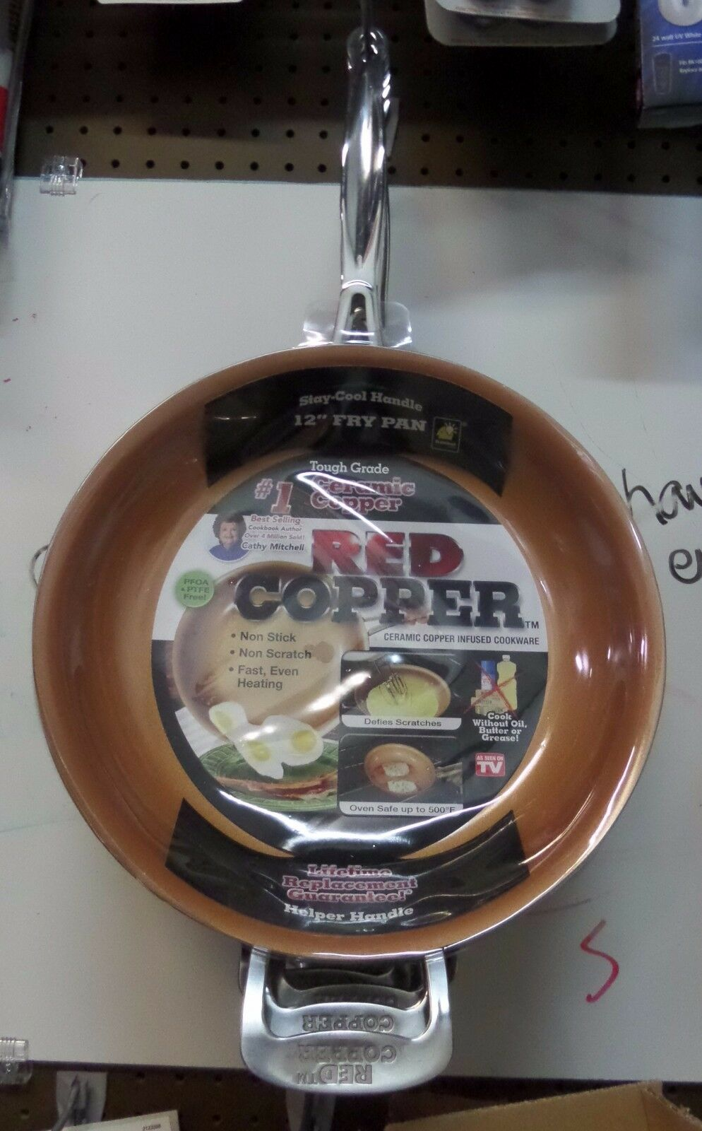 """Telebrands Red Copper 12"""" inch Frying Pan As Seen On TV Ultr"""