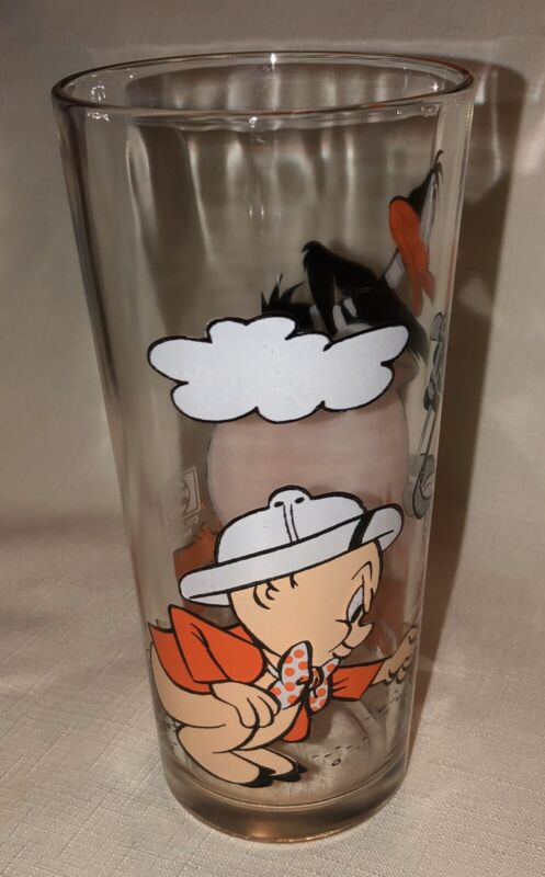 Daffy Duck Porky Pig Glass Cook-Pot NOS 1976 Pepsi Looney Toons MINT