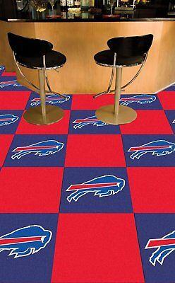 NFL Buffalo Bills Carpet tiles Mancave must have Fanmats USA QUICK SHIP