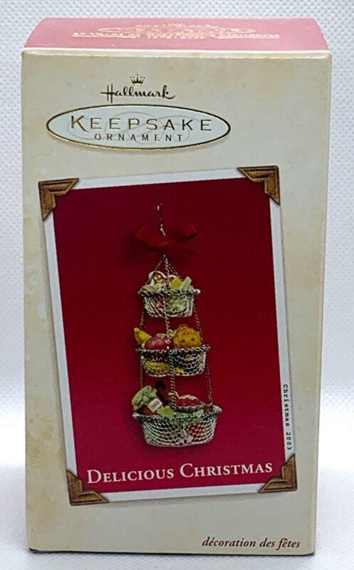 Hallmark Keepsake Delicious Christmas Fruit Basket Ornament 2003 NEW STOCK
